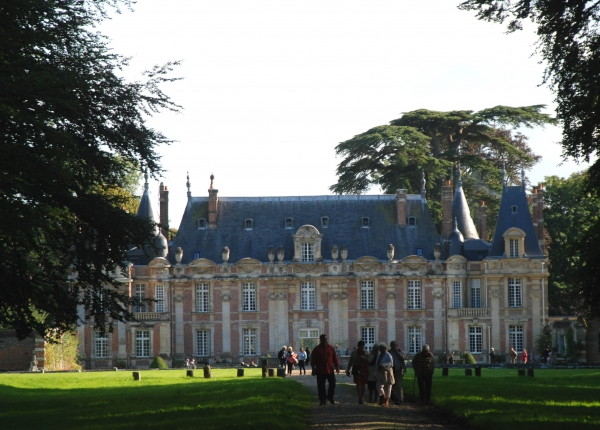 monumental trees behind the ch teau de miromesnil prive. Black Bedroom Furniture Sets. Home Design Ideas